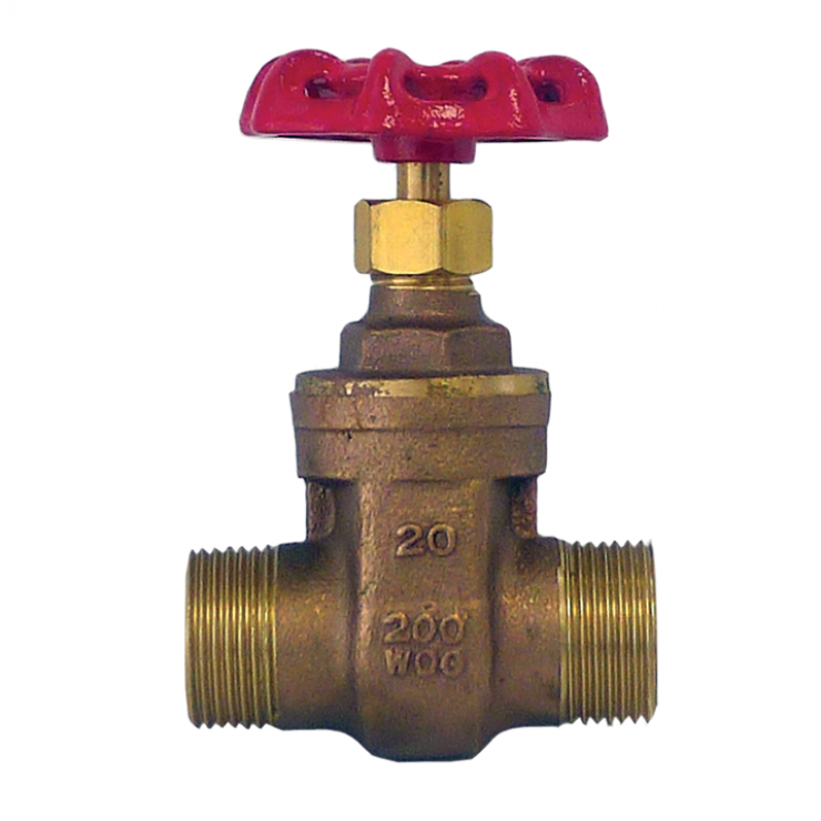 Gate Valve Brass Male/Male