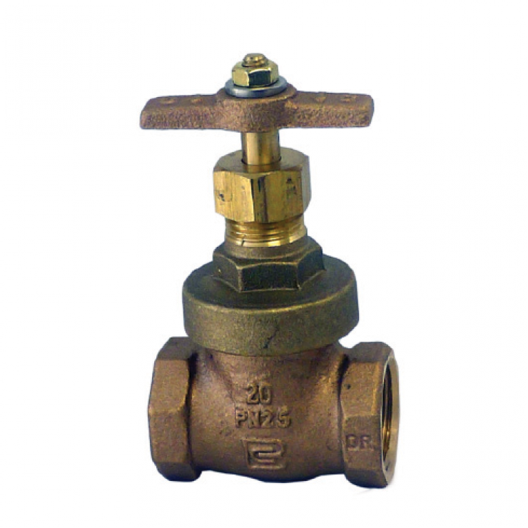 Gate Valve Bronze Aust Std T Handle15mm Fem/Fem