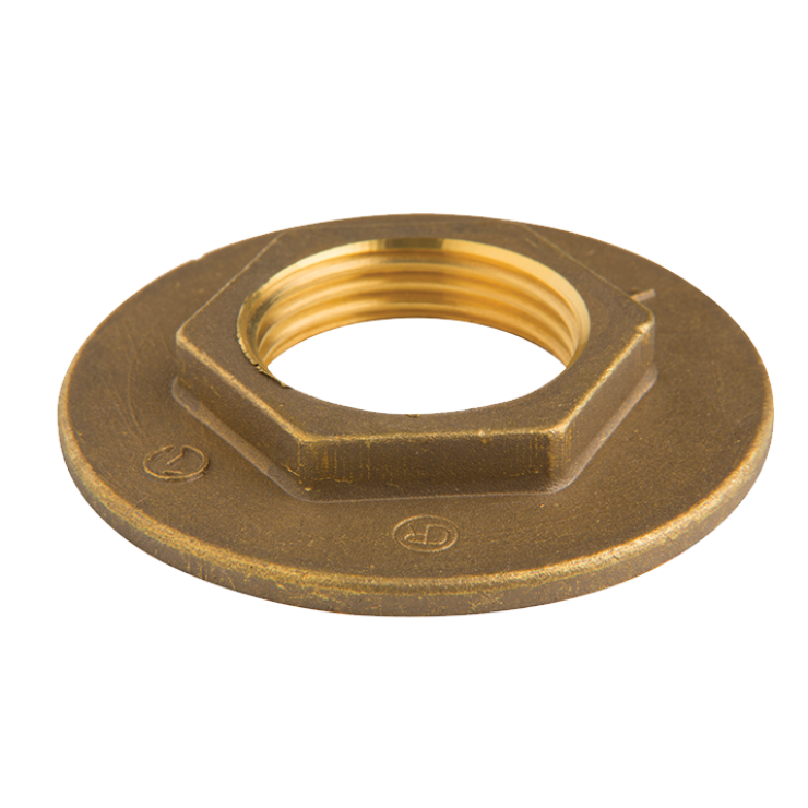 DZR Brass BackNut with Wide Flange Female