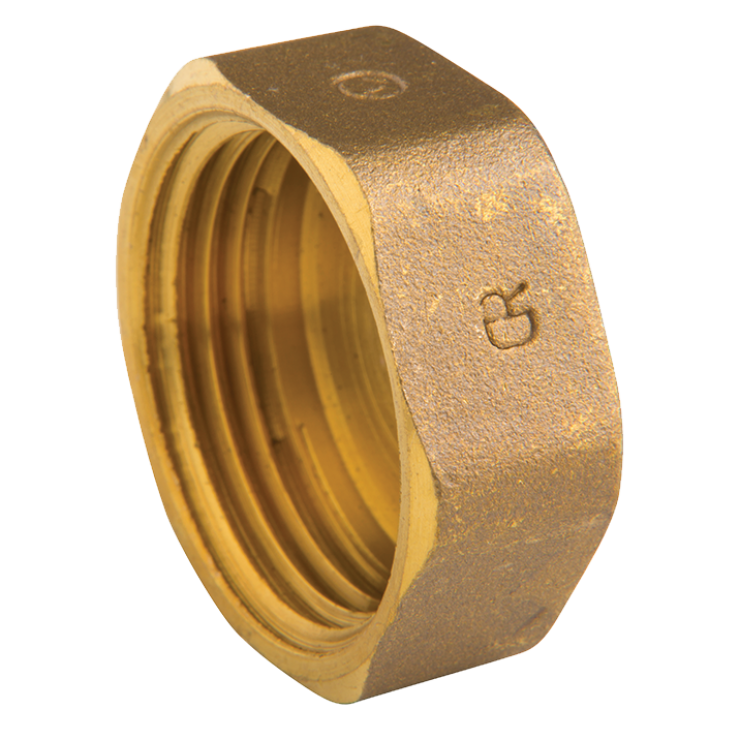 DZR Brass Cap Hexagonal Female