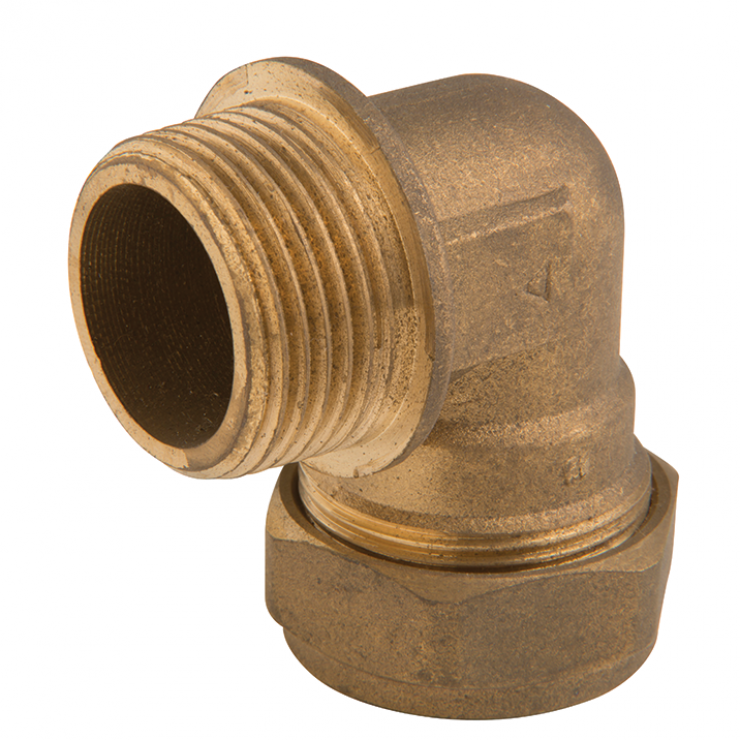 DZR Brass Crox Flanged Male Elbow with 1 Nut C x MI