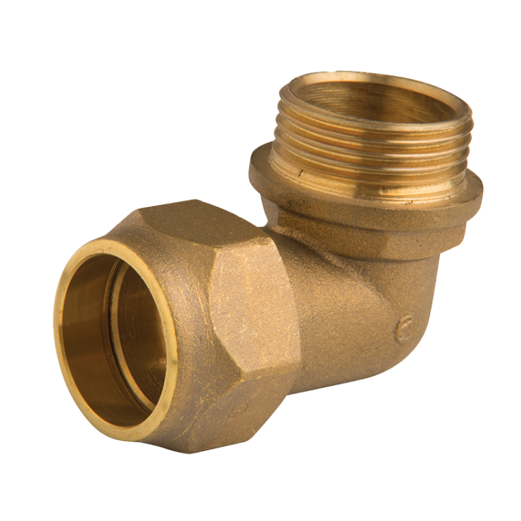 Brass Compression Male Elbow 90 deg