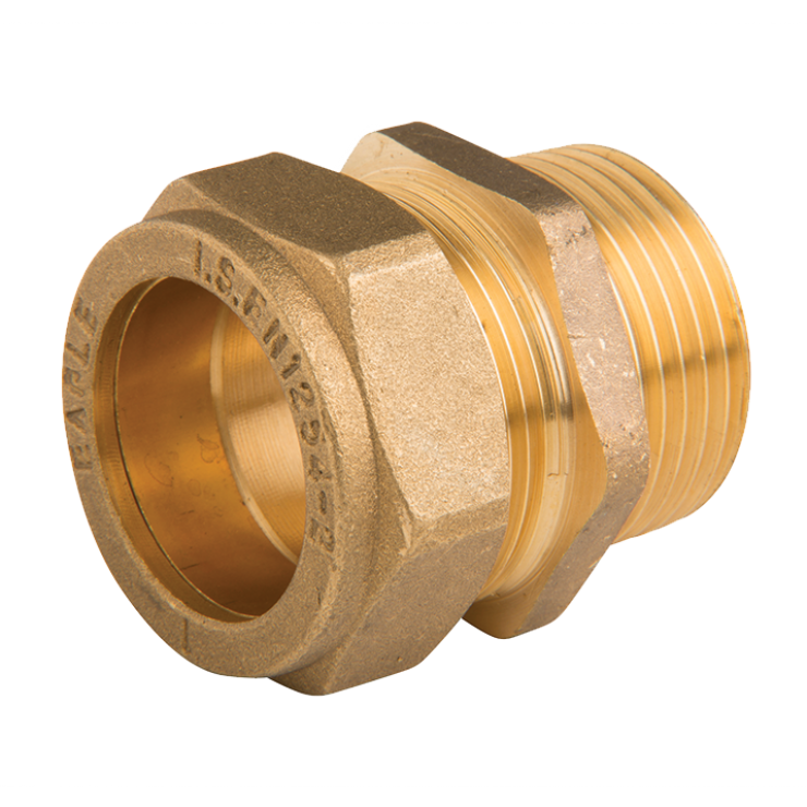 Brass Compression Male Straight Coupling