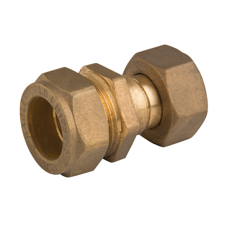 Brass Compression Str Swivel Coupling
