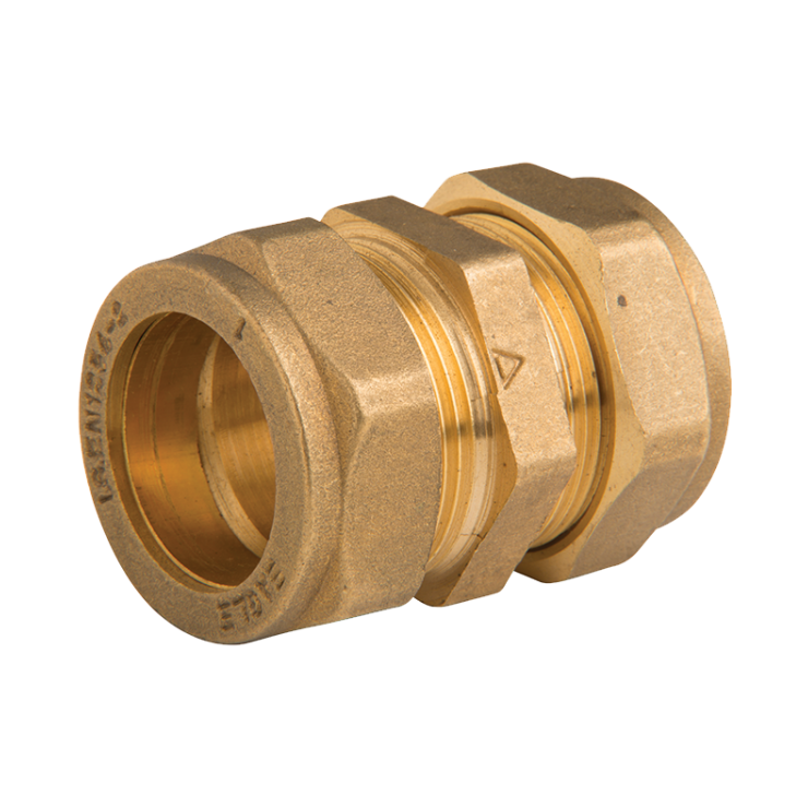 Brass Compression Straight Coupling