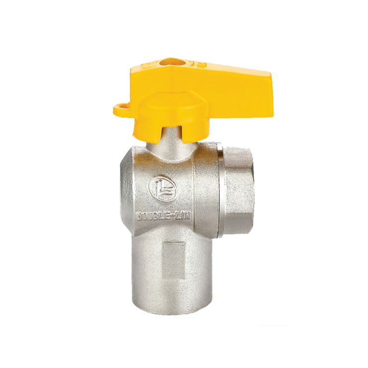 Gas Ball Valve Angle Female Short Handle