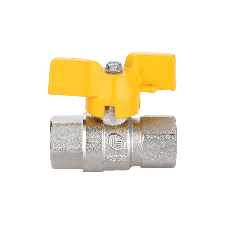 Gas Ball Valve Female Female Short Handle