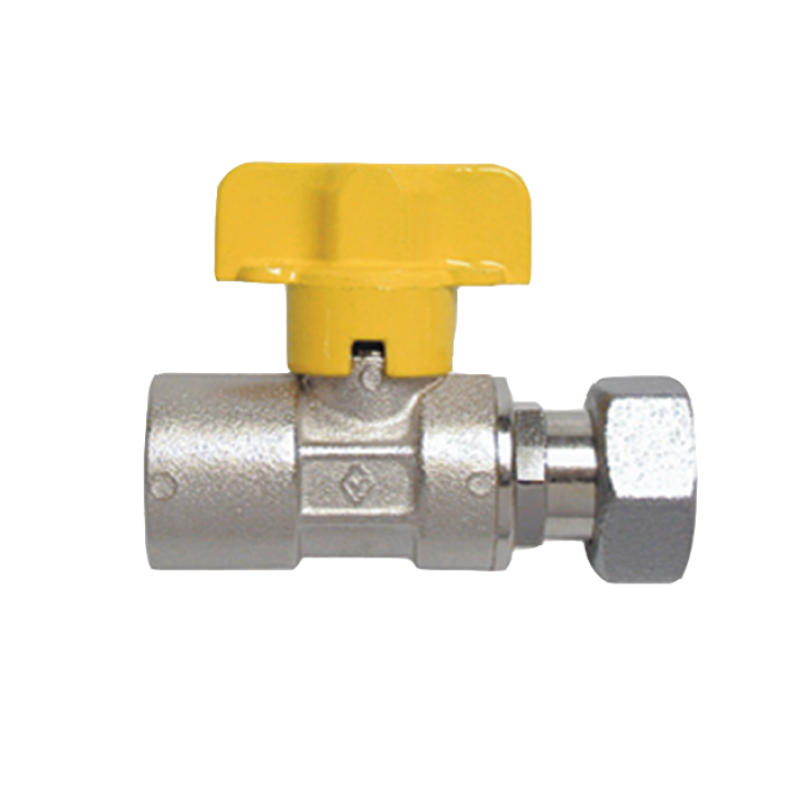Gas Ball Valve Fem with 15mm Swivel Nut