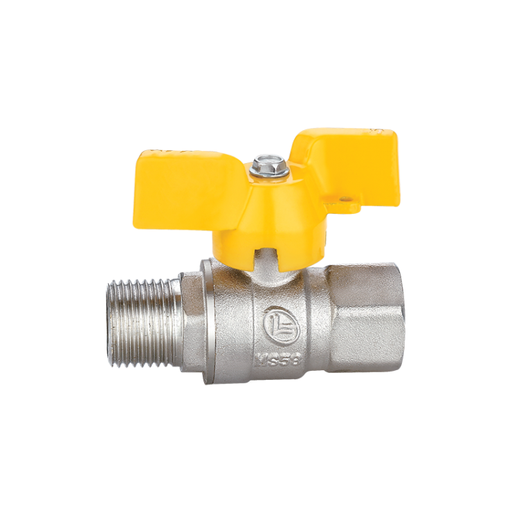 Gas Ball Valve Male Female  Short Handle