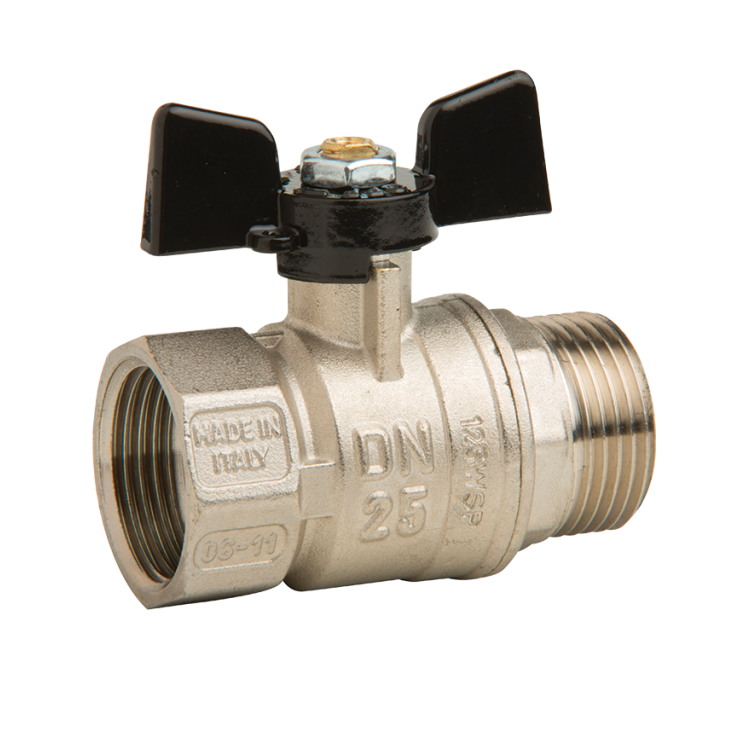 Bugatti Ball Valve Male/Fem Short Handle
