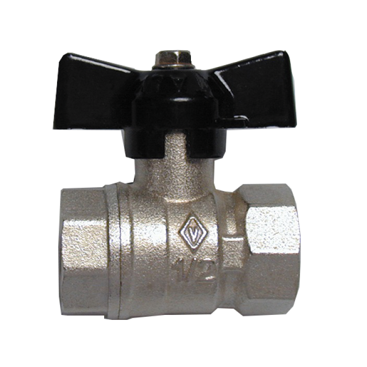 Bugatti Ball Valve Fem/Fem Short Handle Econonomy
