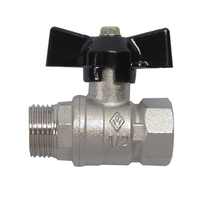 Bugatti Ball Valve Male/Fem Short Handle Economy