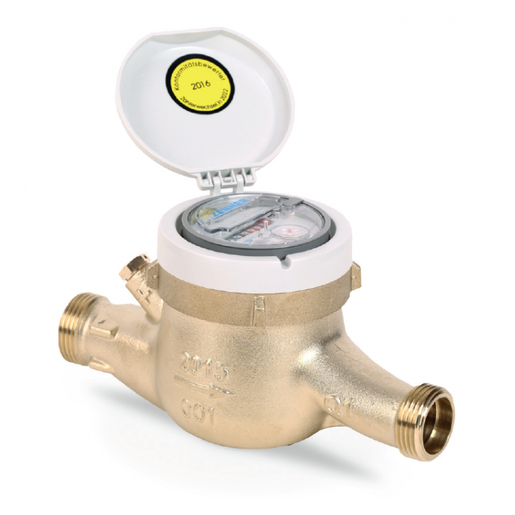 MTKD-M Multi-jet dry dial for cold water.  Copper Can IP68 smart meter